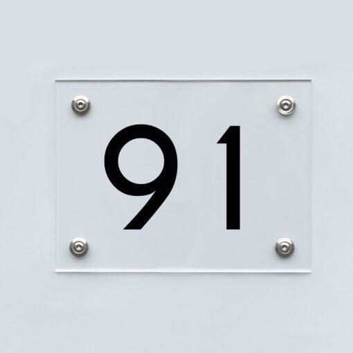 Hausnummernschild 91 - Hausnummer aus Acryl