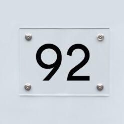 Hausnummernschild 92 - Hausnummer aus Acryl