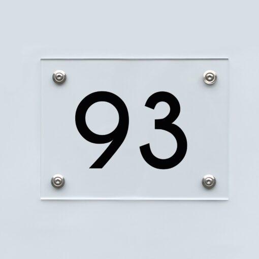 Hausnummernschild 93 - Hausnummer aus Acryl