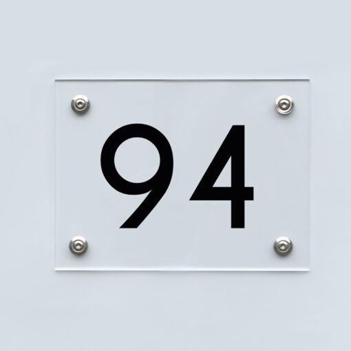 Hausnummernschild 94 - Hausnummer aus Acryl