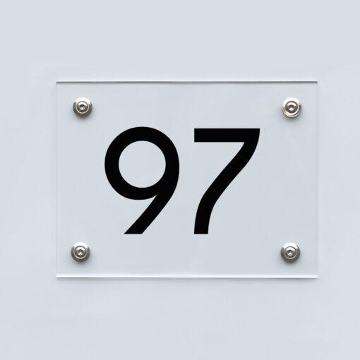 Hausnummernschild 97 - Hausnummer aus Acryl