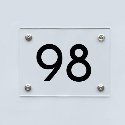 Hausnummernschild 98 - Hausnummer aus Acryl
