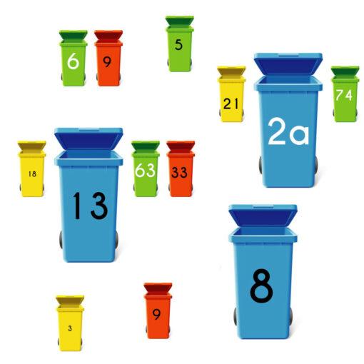 Mülltonnenaufkleber - Mülltonnenbeschriftung