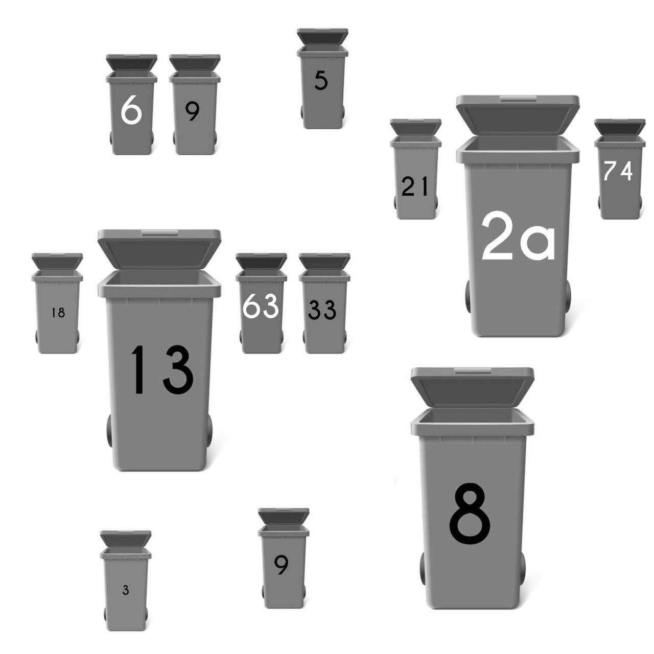 Mülltonnenaufkleber selbstklebend