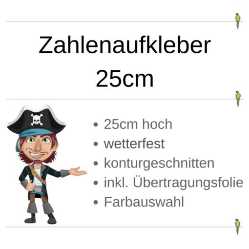 Zahlenaufkleber 25cm
