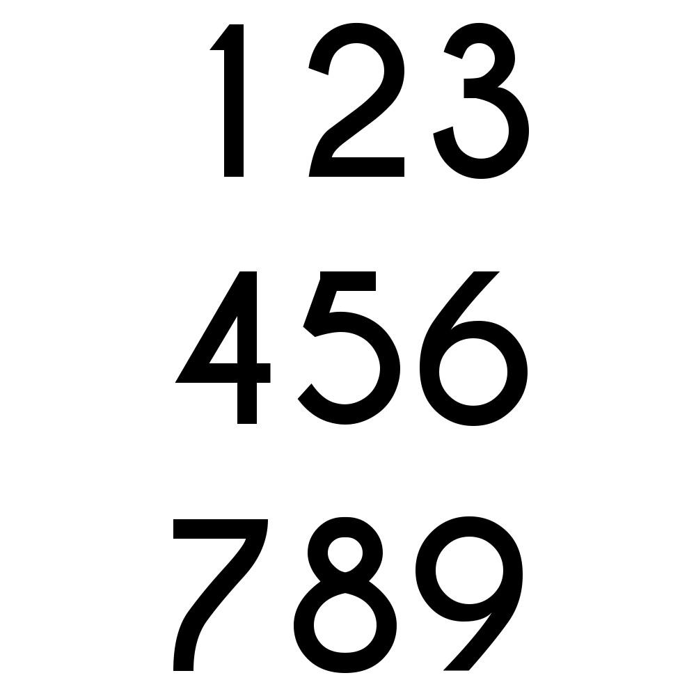 Zahlenaufkleber 30cm Hoch
